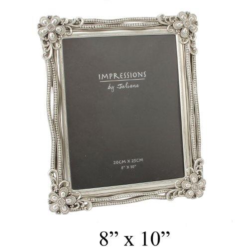 Art Deco Baroque Design Vintage Silver Photo Frame – For 8″x10″ Picture