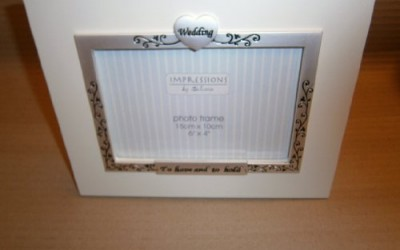 wedding anniversary photo frame 6×4 to have and to hold