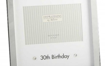 Silver Plated 30th Birthday Photo Frame 4×6″