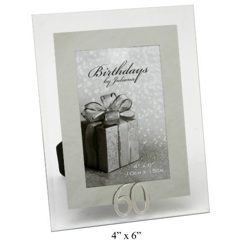 Juliana Impressions Mirrored And Glass 60th Birthday Photo Frame 4×6″