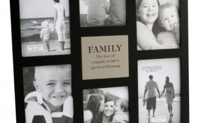"Impressions MDF Multi Aperture Frame – 6 Pictures ""Family"""