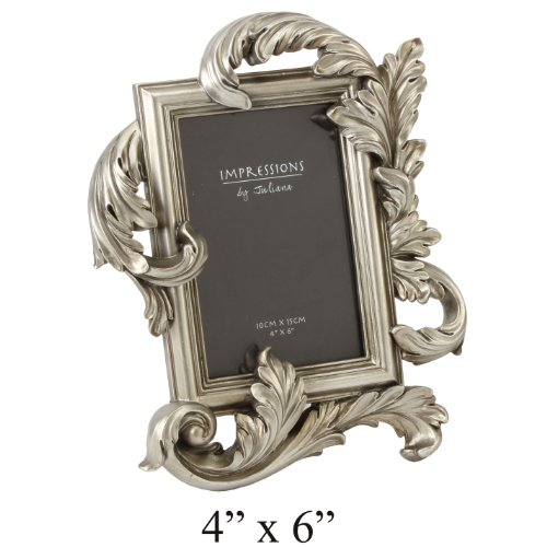 Juliana Impressions Photo Frame Ant Gilt Feather 4″ x 6″ (FR47446)
