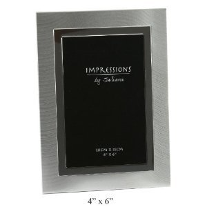 Modern Silver Plated Two Tone Photo Frame 4 x 6