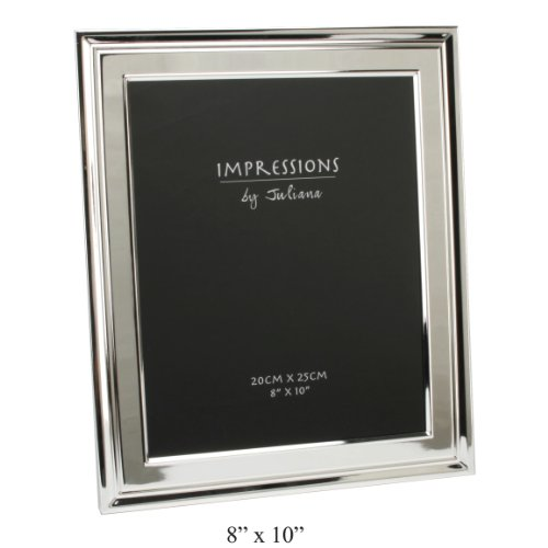 Impressions Silverplated Photo Frame Moulded Border 8″ x 10″