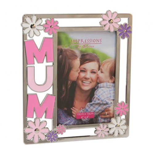 Impressions Silver plated Photo Frame – Mum 4″ x 6″ NEW