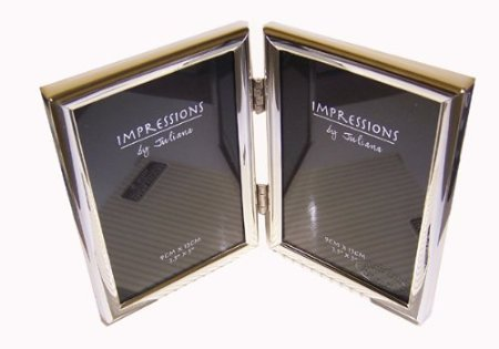 """IMPRESSIONS BY JULIANA SILVER DOUBLE PHOTO FRAME 3.5""""x5"""""""