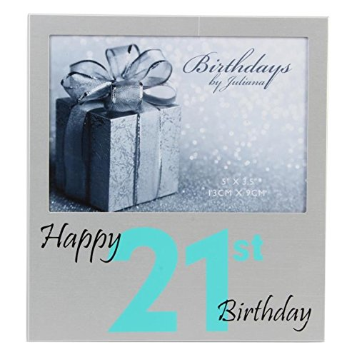 Happy 21st Birthday 5″ x 3.5″ Photo Frame By Juliana Freestanding Frames Gift