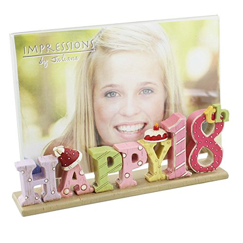 Happy 18th Birthday Freestanding Resin Lettering Juliana Photo Frame 4″ x 6″