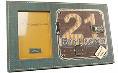 21st Birthday Gift – Zip Style Photo Frame 6″ x 4″ With Gift Box