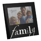 Family 5″ x 3.5″ Black Glass Photo Frame By Juliana Freestanding Frames Gift
