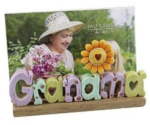 Grandma Freestanding Resin Lettering Photo Frame 6″ x 4″ Photos By Juliana