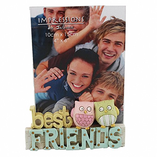Best Friends Freestanding Resin Lettering Photo Frame 4″ x 6″ Photos By Juliana