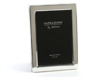 Silver Plated Flat Edge Picture Photo Frame – 4″ x 6″