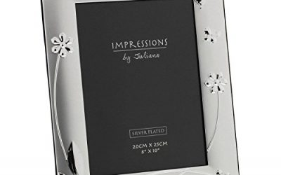 Juliana Impressions – Silver Plated Shabby Chic Floral Butterfly – Photo Frame