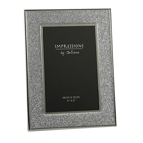 Sparkly Silver Glitter Impressions Picture Photo Frame 6″ x 4″