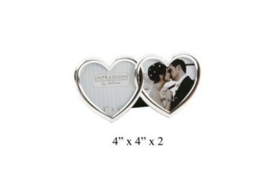 Double Heart Photo Frame 4″ x 4″ Impressions by Juliana Stand Up Frame