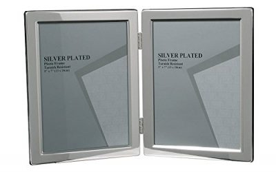 Double Silver Picture Photo Frame 5″ x 7″ Narrow Edge (Portrait)