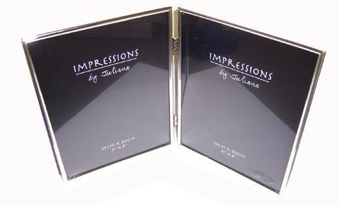 """IMPRESSIONS BY JULIANA SILVER DOUBLE PHOTO FRAME 6""""x8"""" 8175"""