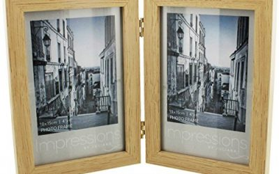 Beige Impressions Double Wood Photo Frame 4×6 by Juliana